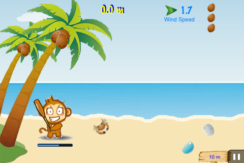 Screenshot Air Cocomon LITE: Free Flight of the Monkey 's Coconut – Facebook Connect